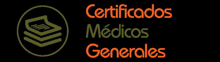 Certificados Médicos Generales